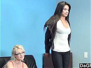 casting three-way With Zoey Paige and Jasmine Rain