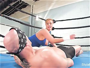 chesty towheaded Shyla Stylez does some hard-core teaching