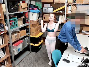 Ella Hughes smashed nuts deep by horny mall cop