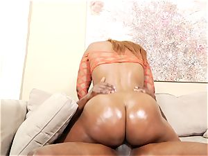Sydney Capri rails her humid fuck hole on a giant prick
