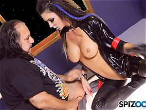 Jessica Jaymes is creamed by mature boy