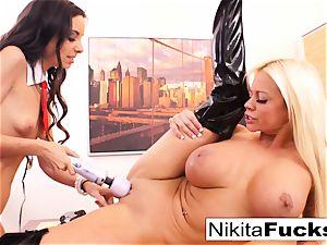 Nikita's girl/girl office plow