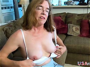 USAwives furry grandma Pusssy porked With fuckfest toy