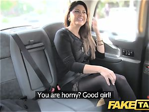 fake taxi ginormous facial cum shot for brunette in tights