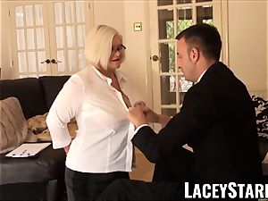 LACEYSTARR - servant GILF ass wedged by Pascal white