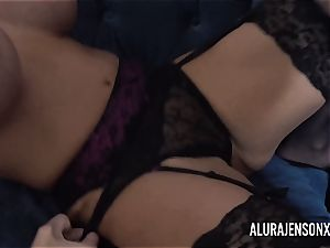 Alura and her huge-boobed girl/girl mate Dolly get insane