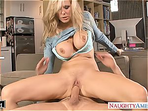 delicious Julia Ann pounded well and caked