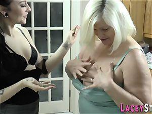 sapphic grandma licks