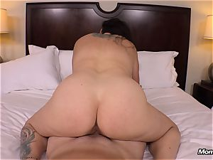 giant all-natural fun bags milf gets hardcore ravaging