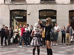 slim Spanish whore assfuck penetrated in public