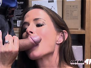 torrid milf Sofie is taken to private office by naughty officer after stealing