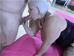 LACEYSTARR - greedy grannie gang-fucked