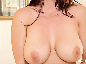 Alison Tyler's boobs can only get more ideal when covered with jism