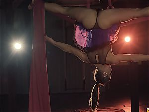 Fit gymnastic Julia Roca is finer than money
