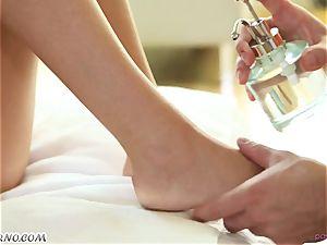masseur's boner deep into the taut holes