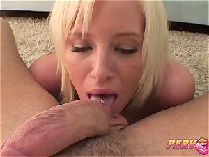 PervCity ash-blonde mega-bitch Face fucked
