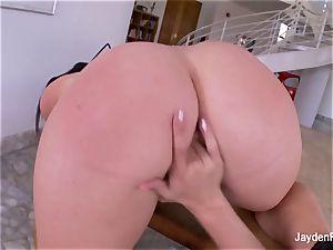 buxom porn industry star Jayden smashes her super-hot towheaded girlfriend