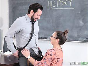Geneva King pounding her instructor