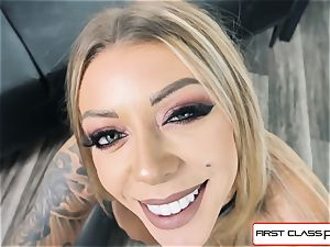 observe Karma Rx take her facehole and honeypot full of pecker