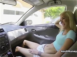 humping platinum-blonde spinner from the street for cash