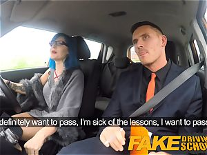 fake Driving college handsome punk gets her donk pounded