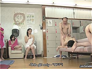 chinese tramps are getting banged in a super-hot spa
