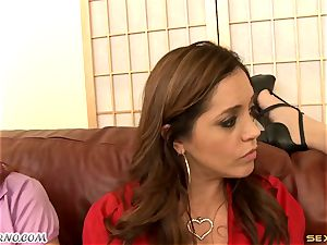 Francesca gets comforted by her milf mates