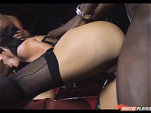wild babe Franceska Jaimes banged by 2 gigantic black rods