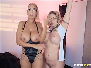 Bridgette B and Eva Notty get ultra-kinky with megacummer Kyle Mason