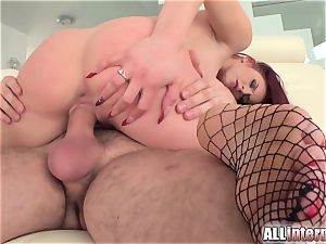 Tall gal Mira's cunny is pulverized and crammed with cum