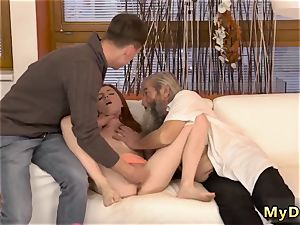 While daddy sees and aged dude tears up xxx unexpected experience with an elderly gentleman