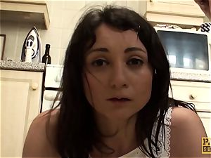 nasty subslut blows a load stiff from romping