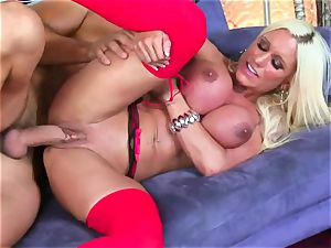 Ashley Chambers gets her moist crevasse packed with rock-hard man-meat