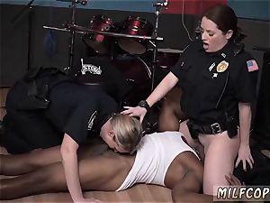 ash-blonde mummy big fake penis raw flick grips officer poking a deadbeat parent.
