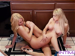 observe Alix and Aaaliyah slurp each others tiny humid snatch