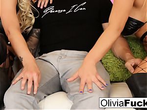 Olivia Austin steaming 3 way
