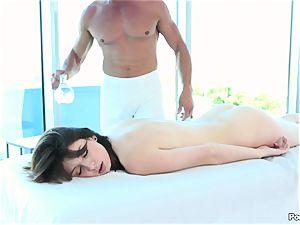 Aspen Ora bathroom onanism and massage plowing