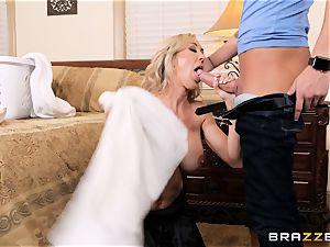 penetrating mummy Brandi love nutsack deep