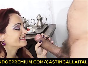 audition ALLA ITALIANA - huge-chested new-cummer heads for anal orgy