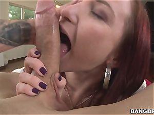 enormous bootie Sophia Locke luvs sausage inside her