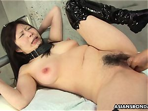 chinese suffers harsh fingerblasting and a nip torment