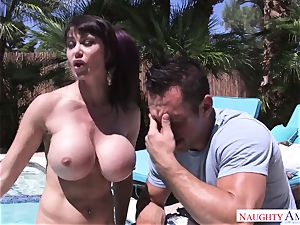 wondrous mother with mega titties wants to get her culo ravaging by her stepson