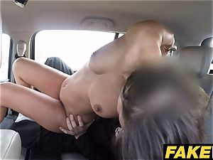 faux Cop The uniformed policemans cum makes her late