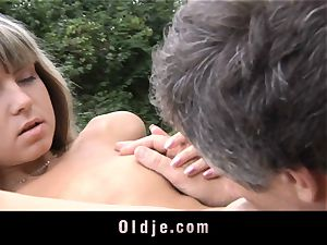 senior anal invasion insertion for little cock-squeezing arse