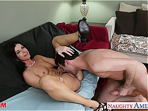 diminutive titted mom India Summers fucking