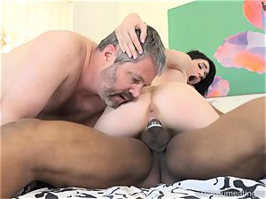 Ivy Aura boinks Neighbor in Front of Her older spouse