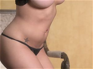 wonderful starlet Jenna Presley takes out her phat boobs and shows off