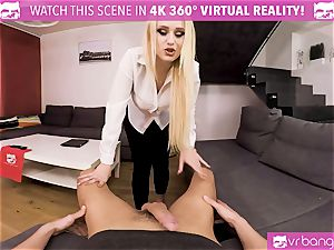 VR porno - My torrid wifey Angel Wicky finishes off early