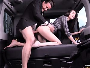 pounded IN TRAFFIC - Russian stunner plumbs rock hard in the car