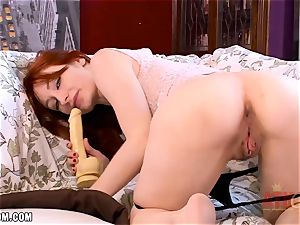 Violet Monroe has a immense faux fuckpole for her honeypot